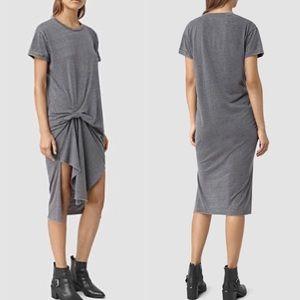 ALLSAINTS T-Rivi Asymmetrical T-shirt dress